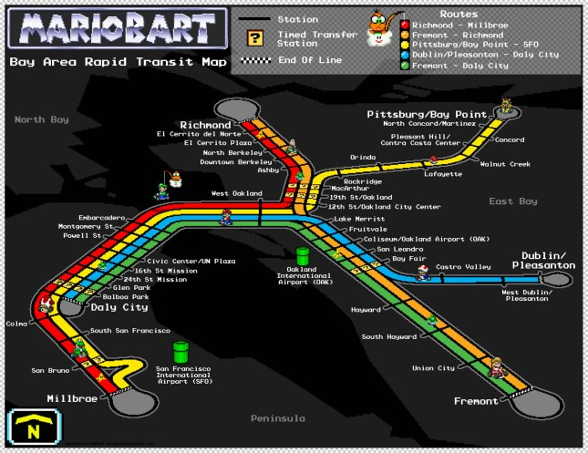 SF-Bart-Mario-Map