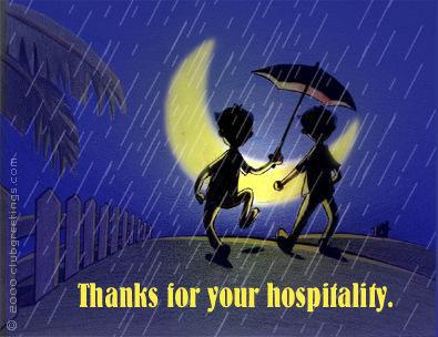 Hospitality-Thanks